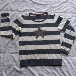Tommy Hilfiger striped star sweater.